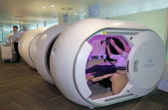 Капсульные комнаты отдыха в китайских аэропортах